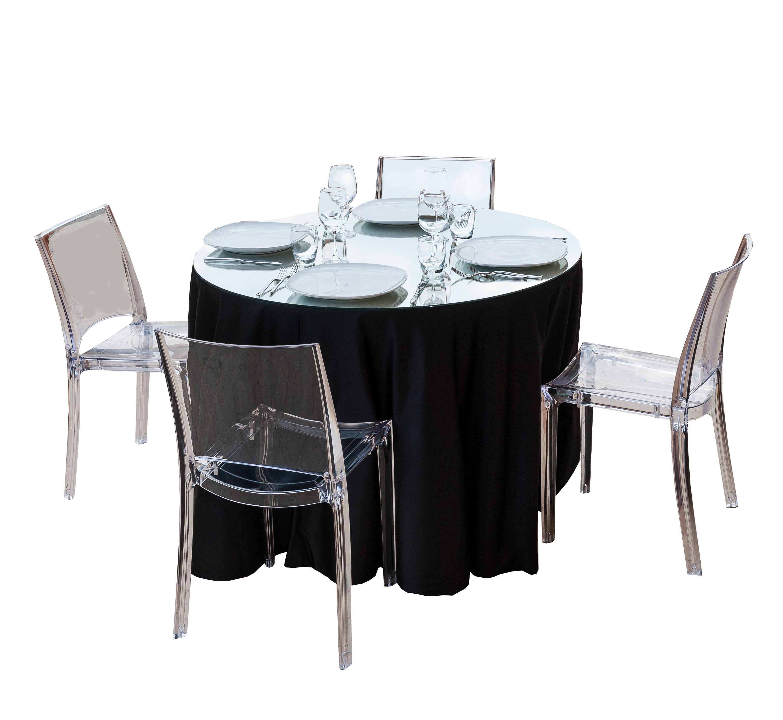 Noleggio tavolo rotondo in legno completo di top a for Tavolo rotondo tovaglia