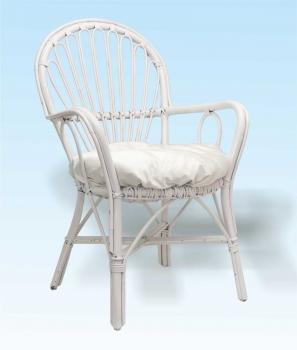 Sedie In Vimini Bianche.Noleggio Poltroncina In Vimini Con Cuscino Color Bianco